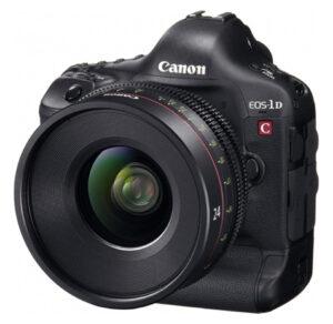 Die EOS-1D C von Canon wird nach einem Upgrade zur ersten DSLR-Kamera mit 4K-Videoauflösung.