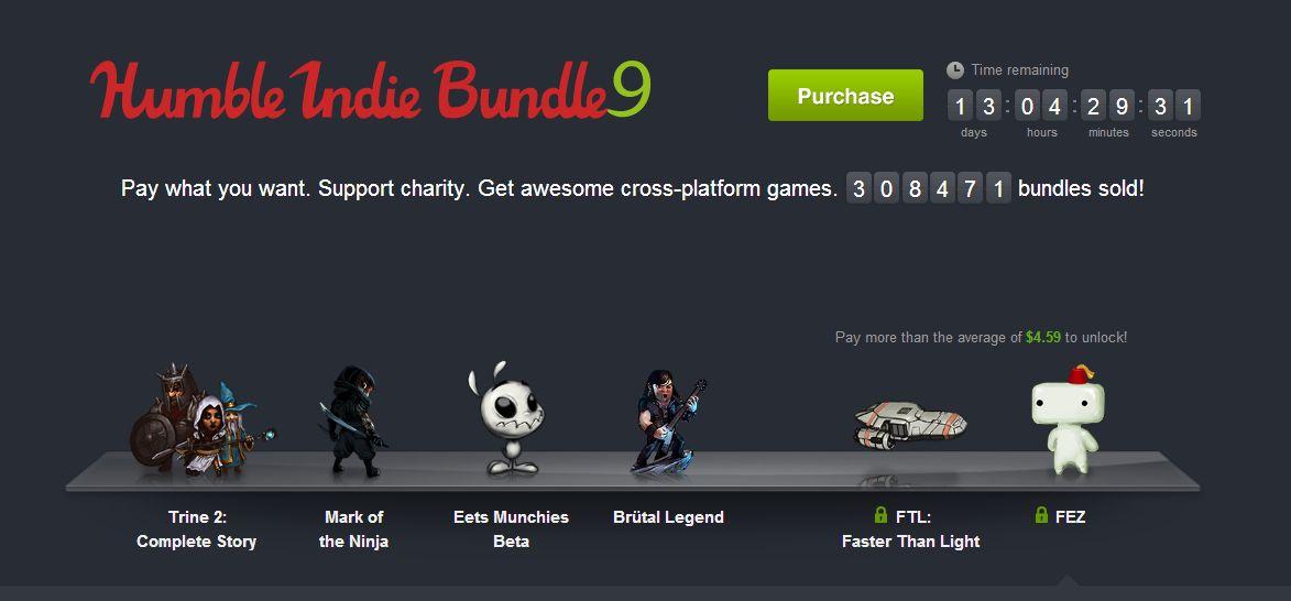 Humble Bundle 9 – Zahl was du willst und bekomme eine handvoll beliebter PC-Spiele