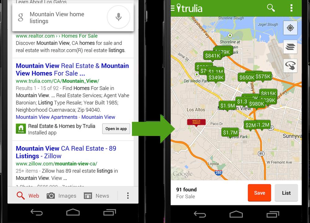 Google will App-Inhalte durchsuchen