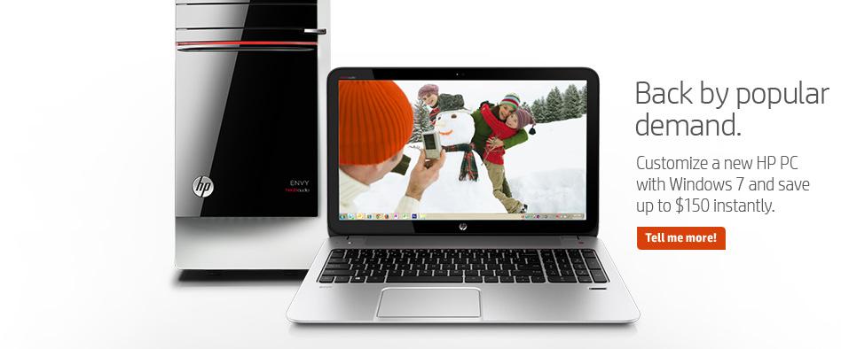 """HP bringt Rechner mit Windows 7 zurück: """"Aufgrund der hohen Nachfrage"""""""