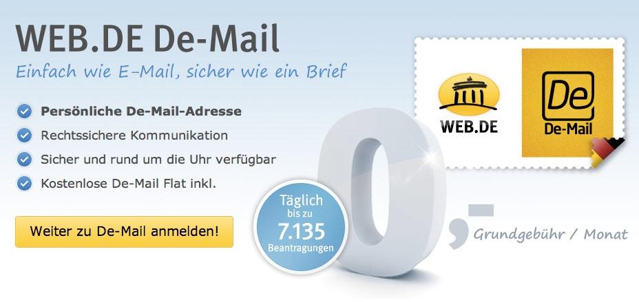 Letzter Strohhalm? GMX und Web.de machen De-Mail kostenlos