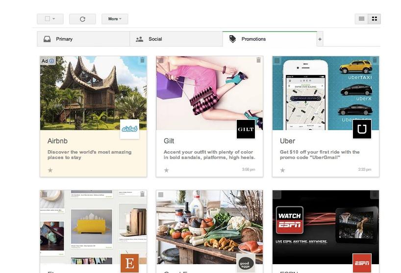 Google experimentiert mit hübscherer Ansicht für Email-Werbung