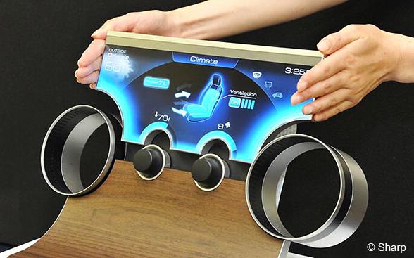 """Sharp revolutioniert mit """"Free Form Display"""" die Gehäuseform von LC-Bildschirmen"""
