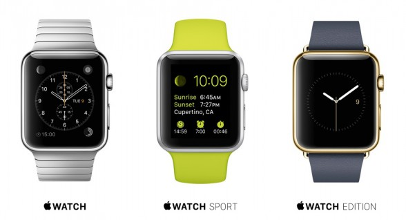 Die drei Typen der Apple Watches