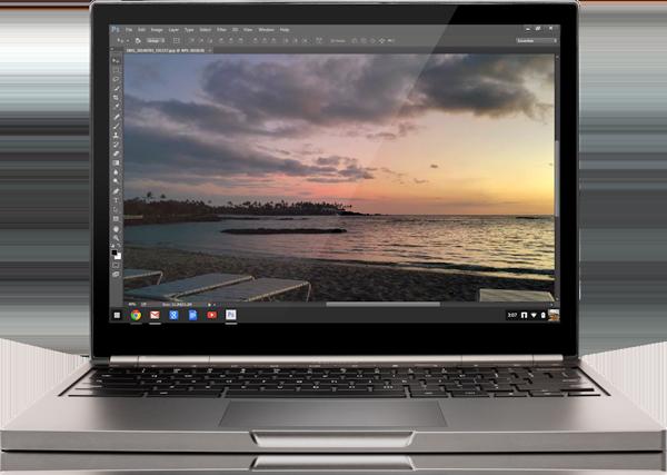 Photoshop für Chromebooks ist da: Microsoft mit einem Gegenargument weniger