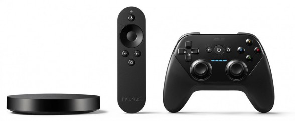 Nexus Player mit beiliegender Remote und optionalem Controller. (Foto: Google)