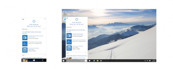 Sprachassistent Cortana für Windows 10