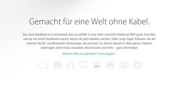 Apple-Werbung für das neue MacBook: Eine Welt ohne Kabel