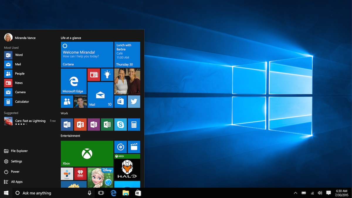 Windows 10: Das neue Startmenü