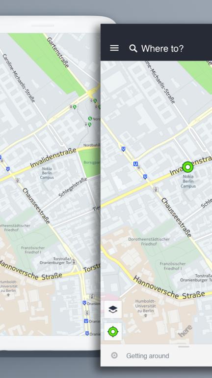 Here WeGo beweist, dass es nicht immer Google Maps sein muss. (Foto: Here Apps)