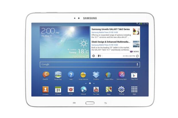 Schon ein wenig in die Jahre gekommen: Das Galaxy Tab 3 10.1 aus dem Jahr 2013