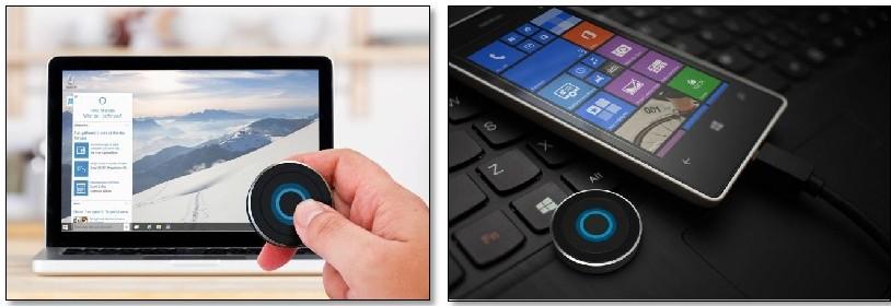Cortana Button: Windows 10 mit einem Schalter bedienen
