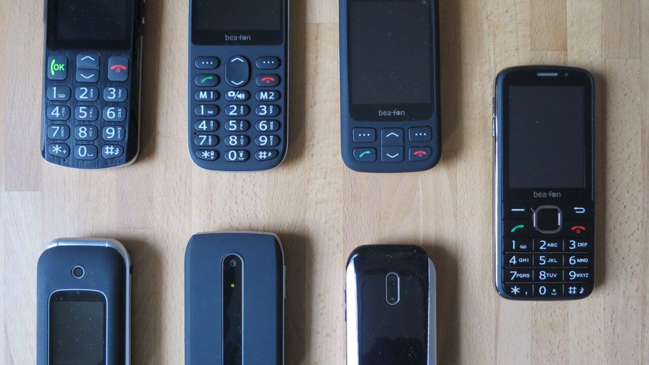 Bea-fon im Test: 6 Seniorenhandys und 1 Senioren-Smartphone
