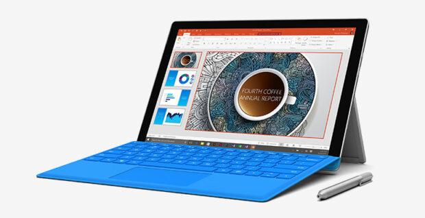 Mehr Tablet als Laptop, bereits in der 4. Version. Microsoft Surface Pro 4