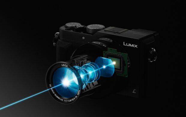 Systemkamera Panasonic Lumix DMC LX100 in der schematischen Darstellung