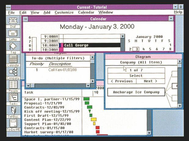 """Windows 3.0 – Anfang der 1990er Jahre beginnt Microsoft, die """"Weltherrschaft in den Wohnzimmern"""" für sich zu entscheiden."""