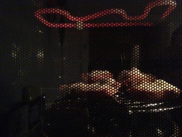 Oben gut sichtbar: Der Grill. Die Heißluft kommt von hinten. (Foto: Sven Wernicke)