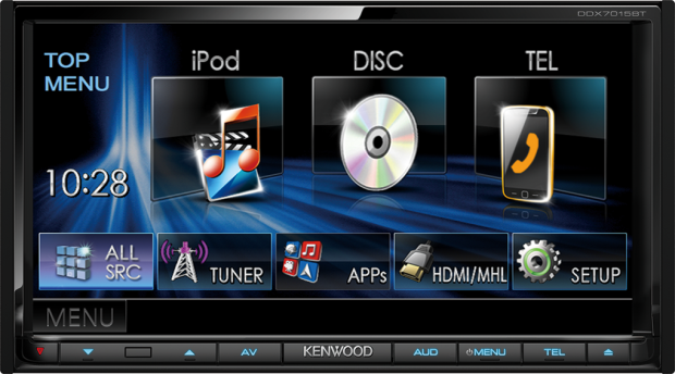 Die Kenwood Moniceiver bieten neben Unterhaltung noch einen großen Touchscreen (Bild: Kenwood)