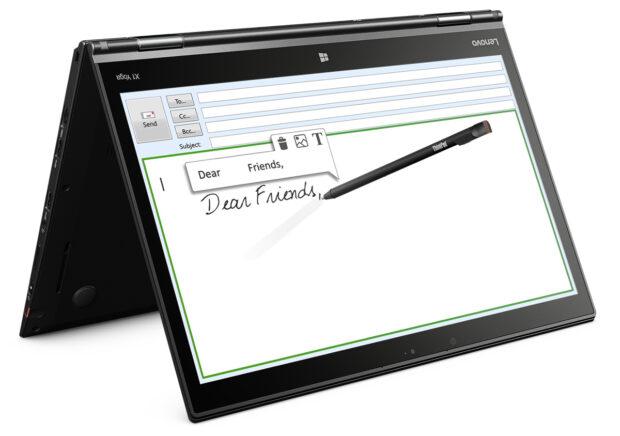 Das Lenovo ThinkPad X1 Yoga gibt es auch mit OLED-Display - noch einmalig in dieser Größe (Bild: Lenovo)