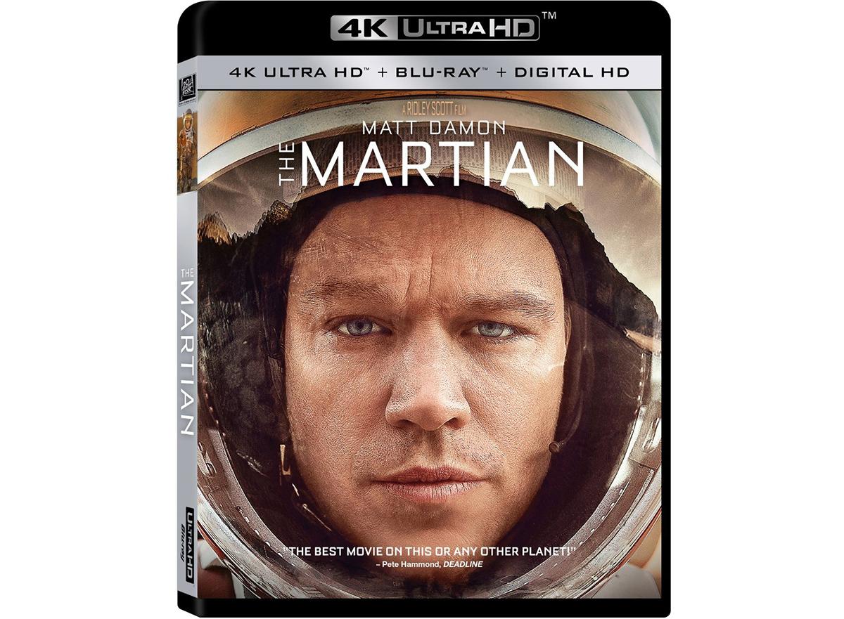 """Beim Kauf eines Ultra HD Blu-ray-Players UBD-K8500 spendiert Samsung jeweils eine Ultra HD Blu-ray von """"Der Marsianer"""" (hier abgebildet die US-Disc) mit dazu."""