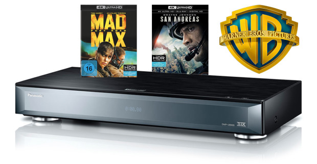 der ultra hd blu ray player von panasonic kommt mit movie bundle von warner in den handel. Black Bedroom Furniture Sets. Home Design Ideas