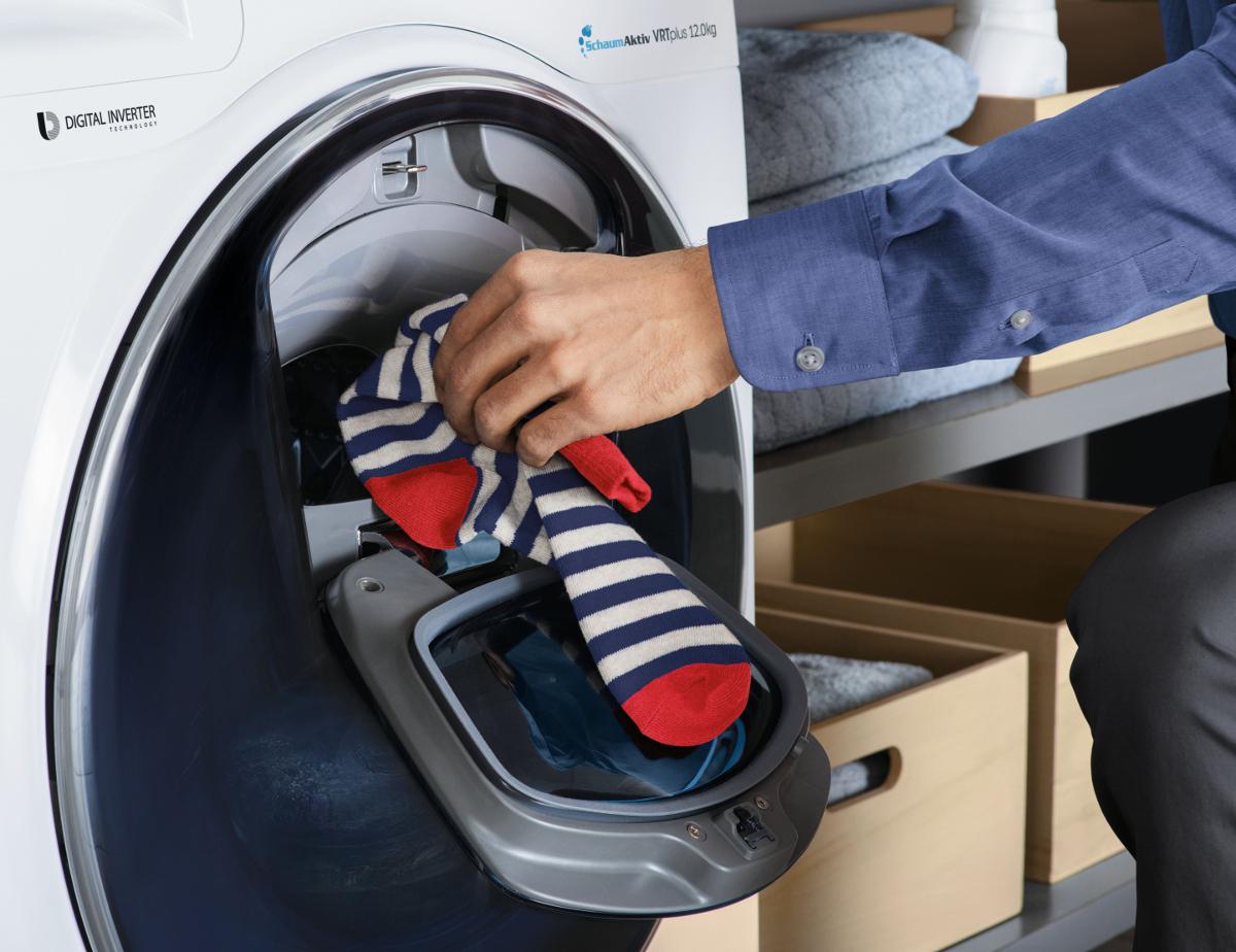 waschmaschine socken finden