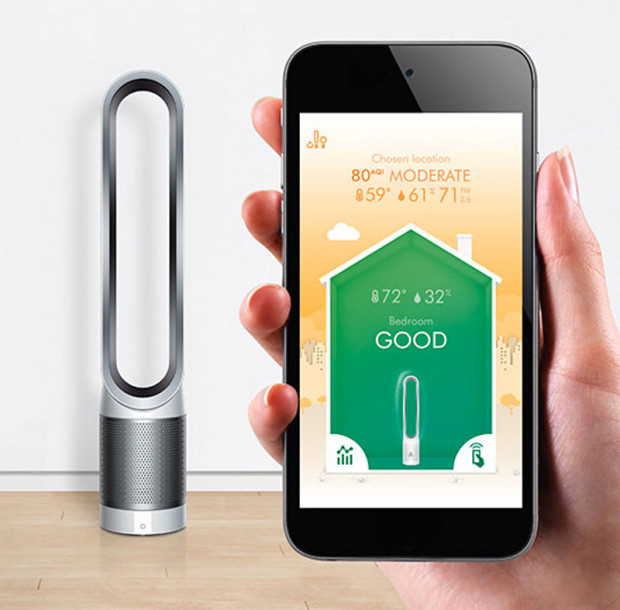 dyson pure cool link die luft mit dem smartphone reinigen. Black Bedroom Furniture Sets. Home Design Ideas