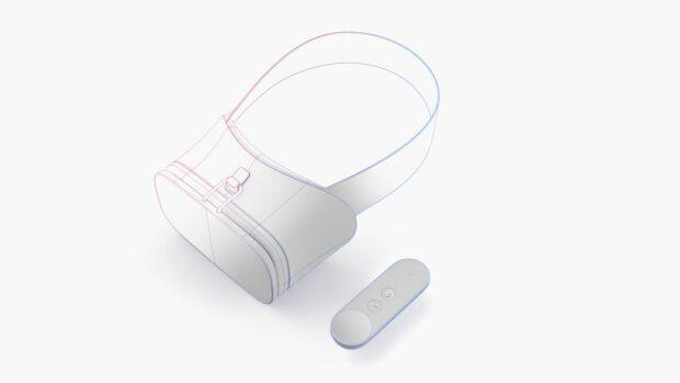 VR-Brille und Controller. (Foto: Google)