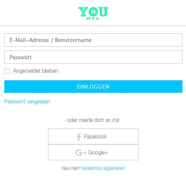"""Über den """"ICH & YOU""""-Button können sich User von RTL II YOU für Interaktionen einloggen."""