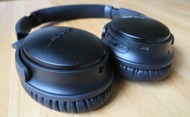 Den Bluetooth-Kopfhörer Bose QuietComfort 35 mit Active Noise Cancelling trage ich am Schreibtisch, aber auch im Zug (Bild: Peter Giesecke)