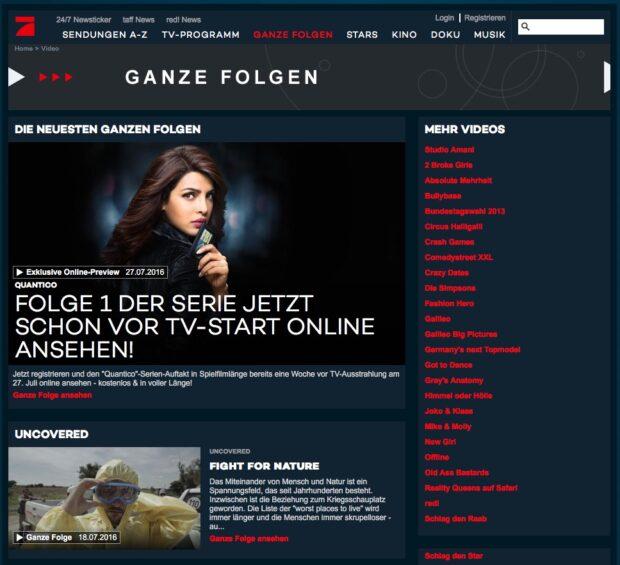 Mediatheken - Pro7