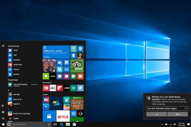 Cortana phone home: Microsofts Sprachassistent wird mit dem Anniversary Update standardmäßig aktiviert sein.
