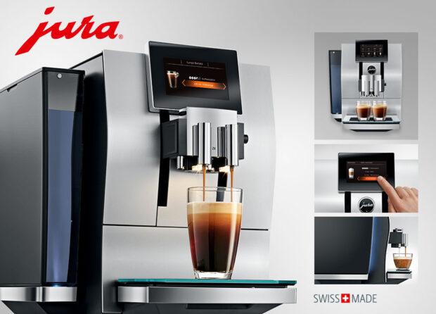 Details des neuen Kaffeevollautomaten Jura Z8 Aluminium (Bild: Jura)