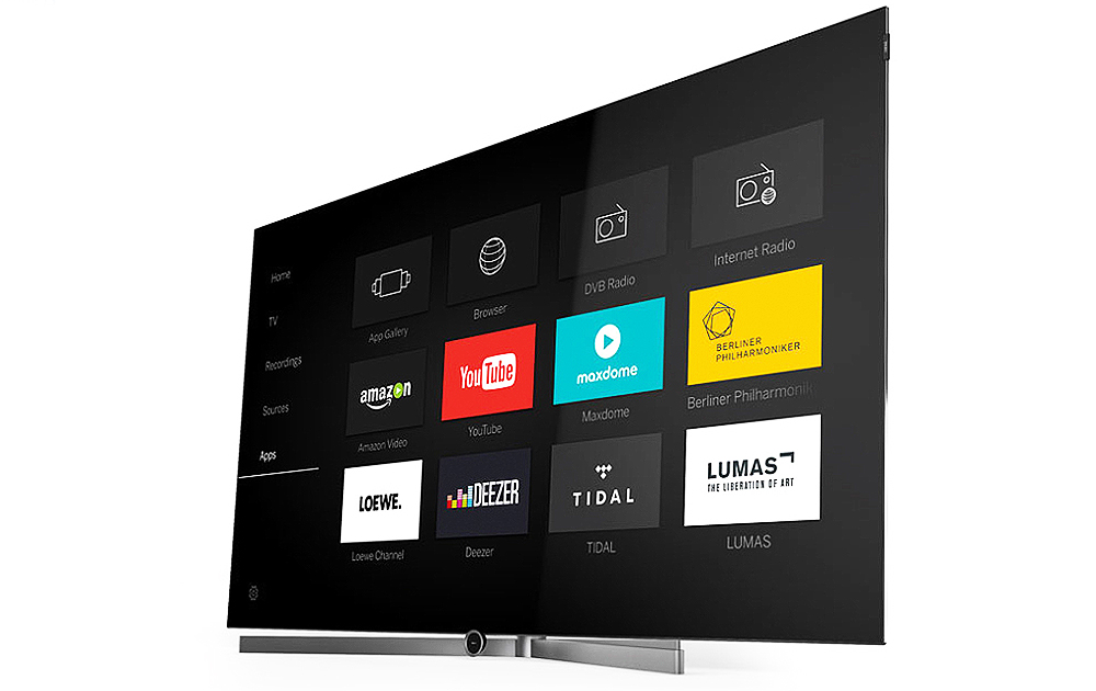 """Mit dem edlen OLED-Fernseher """"bild 7"""" setzt Loewe auf der IFA Zeichen für TV-Geräte mit organischen Leuchtdioden."""