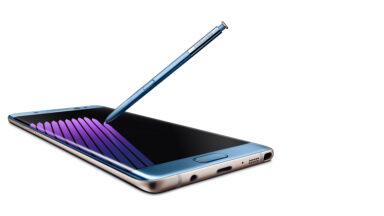 Der heutige Marktführer Samsung mit dem Galaxy Note 7, das sich wahlweise wieder mit einem Stylus bedienen lässt. Bild: Samsung