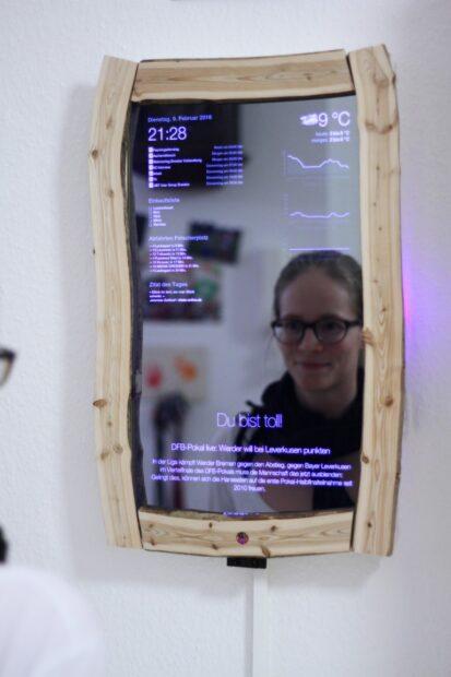 Der magische Spiegel im Eigenbau. (Foto: Thomas Bachmann)