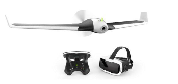 Drohne, Controller, VR-Brille. (Foto: Parrot)
