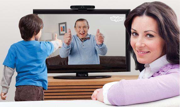 So bewarb Samsung damals Skype am TV. (Foto: Samsung)