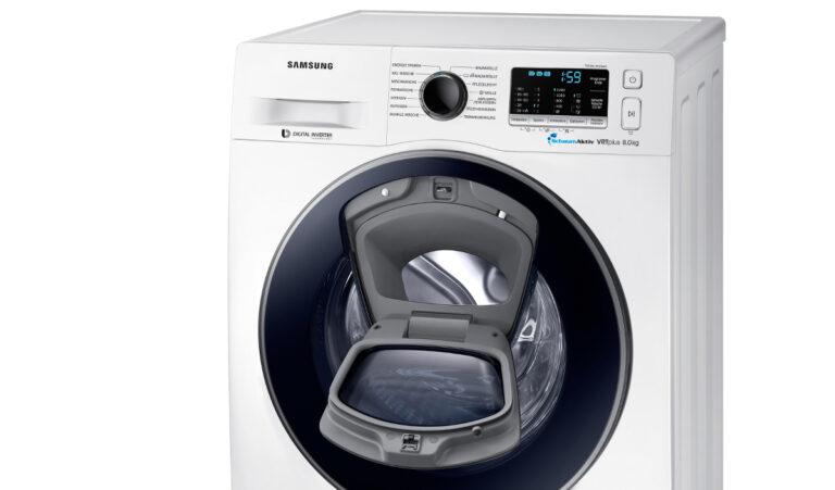 samsung addwash slim diese schlanke waschmaschine ist nur 45 cm tief euronics trendblog. Black Bedroom Furniture Sets. Home Design Ideas