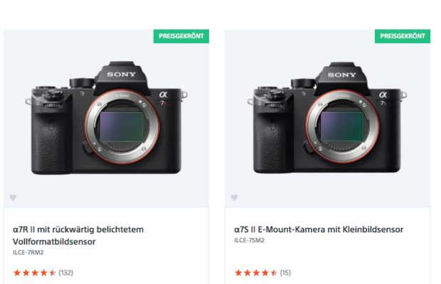 Zwei identisch aussehende Sony-Kameras mit ähnlichem Funktionsumfang und kryptischen Namen. Ginge das nicht auch einfacher?