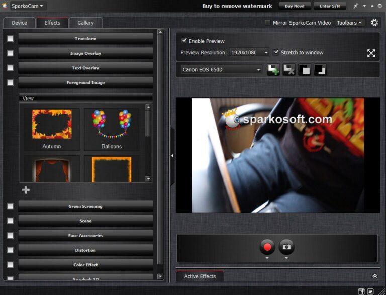 Viele Optionen. So wird aus der Spiegelreflex-Kamera eine gute Webcam. (Foto: Screenshot / Sven Wernicke)