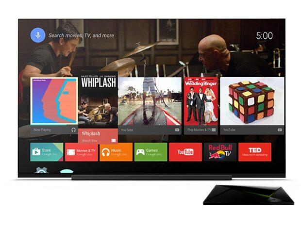 Offizielle Oberfläche von Android TV. Optisch gibt es hier kaum etwas auszusetzen. Der Pferdefuß ist die Benutzerführung. Bild: Google