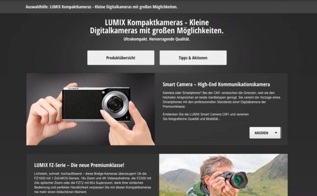 Kompaktkameras: Panasonic hilft bei der Auswahl.