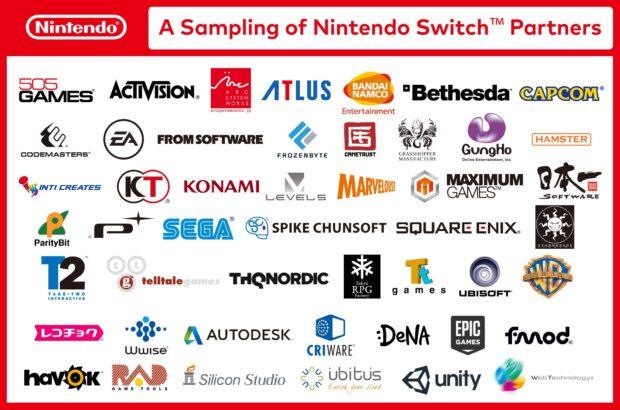 Diese Firmen sind von Anfang an dabei. (Foto: Nintendo)