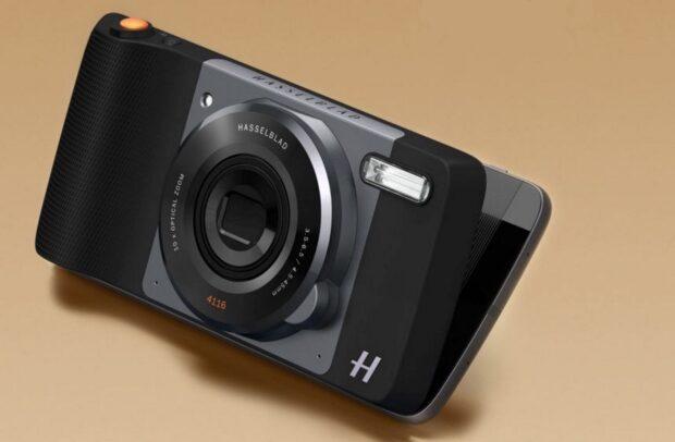 Ein Smartphone? Eine Kamera? Beides: Lenovo Moto Z mit dem Kamera-Mod Hasselblad True Zoom.