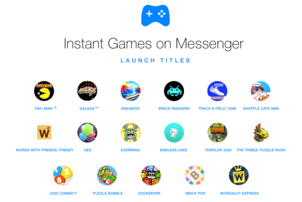 Instant Games on Facebook Messenger