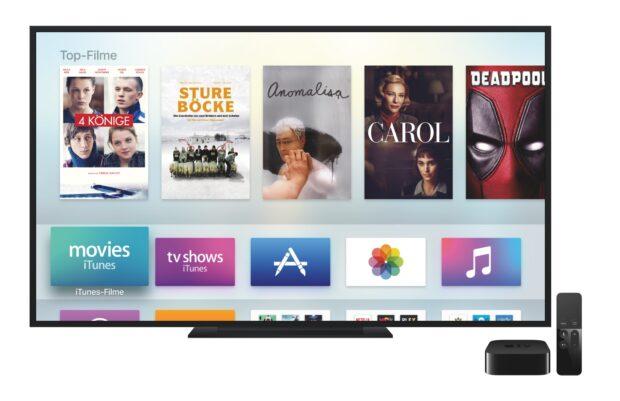 Warum noch für lineares Fernsehen bezahlen, fragt sich mancher, wenn man mit Streaming-Boxen wie Apple TV alles sehen kann, was man möchte? Bild: Apple