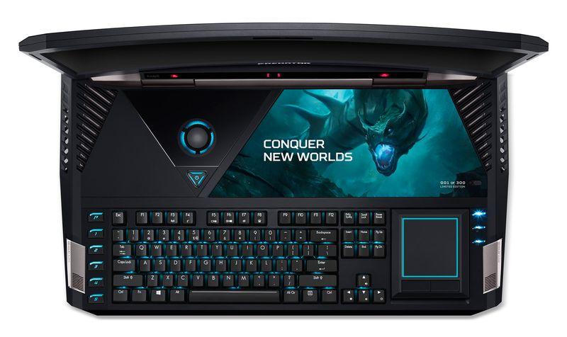 Gaming extrem: Acer Predator 21 X ist ein monströser Laptop mit 21-Zoll-Curved-Display für 10.000 Euro