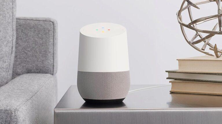 Google Home: Lautsprecher mit Sprachassistent. Bild: Google