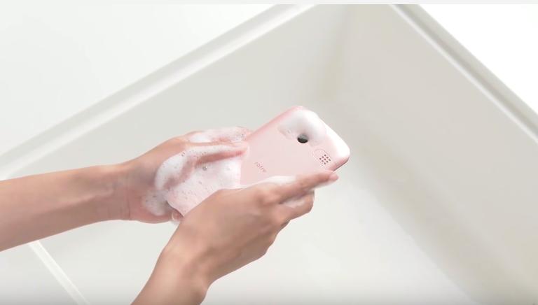 Nicht ganz sauber? Dieses Kyocera-Smartphone könnt ihr waschen